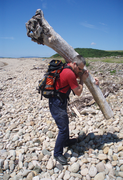Graham Collecting Driftwood